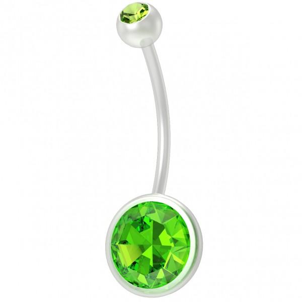 16g Pregnancy Belly Button Bioflex Bioplast Long Maternity Navel Piercing Jewelry Flexible Pregnant