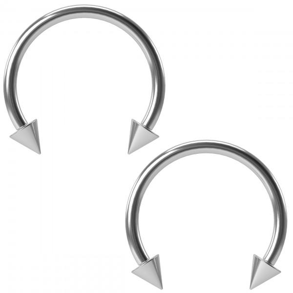2pc 16g Circular Barbell Horseshoe Earrings Lip Septum Eyebrow Stainless Steel Piercing 12mm Jewelry
