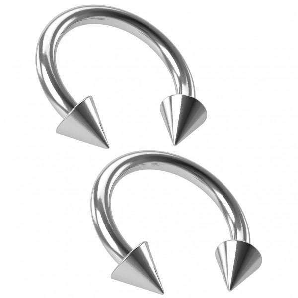 2pc 16g Circular Barbell Horseshoe Earrings Women Daith Orbital Rook Snug 8mm Snake Bites Piercing