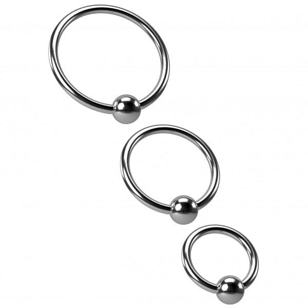 3pc 18g Bead Captive Ring Surgical Steel Tragus Snake Bite Cartilage Hoop BCR Septum Nose Conch 10mm