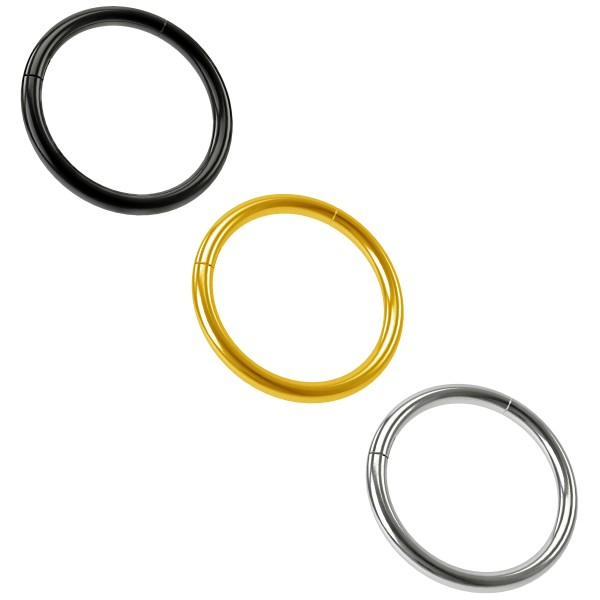 3 x 1mm Schwarz Chirurgenstahl 316L Kliker Click Ring Segment Nasen Helix Cartilage Tragus Piercing Schmuck