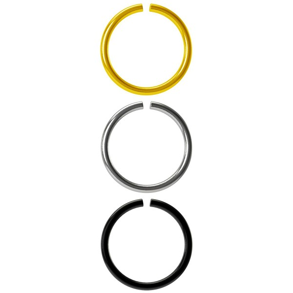 3pc 18g Surgical Stainless Steel Ring Seamless Thin Hoop Endless Infinity Cartilage Earring Tragus
