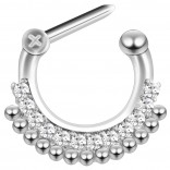 16g Septum Surgical Steel Helix Nostril Earrings Ring Nose 6mm Clicker Cartilage Lobe Piercing Jewelry