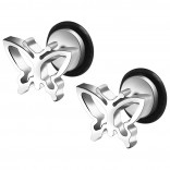 2pc 16g 316L Surgical Stainless SteelButterfly Fake Ear Plug Gauges Earrings Cheater Stud Surgical Steel Bar Piercing Jewelry