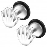 2pc 16g 316L Surgical Stainless SteelHand Fake Ear Plug Gauges Earrings Cheater Stud Surgical Steel Bar Piercing Jewelry