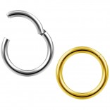 2pc 14g Clicker Nose Rings Hoop Septum Ring Ceptum Clickers Conch Piercing Jewelry Steel & Gold 10mm
