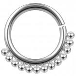 16g Stainless Steel Septum Ring For Women Men Gothic Nickel-Free Tribal Nose Hoop Piercing Jewelry