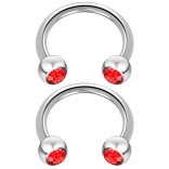 2pc 14 Guage Cirular Barbell Horseshoe Cartilage Earrings 10mm Tragus Helix Septum 14g Light Siam Piercing Jewelry