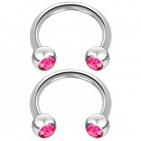 2pc 14 Guage Cirular Barbell Horseshoe Cartilage Earrings 10mm Tragus Helix Septum 14g Rose Piercing Jewelry