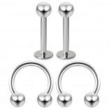 16g 8mm Cartilage Piercing Earrings 16 Gauge 8mm Earring Pierced Hoop For Ears Hypoallergenic Labret Studs Piercing Jewelry Rings Surgical Steel