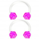 2pc 14g Dice Flexible Bioflex Circular Barbell Horseshoe Septum Ring Bioplast Piercing 10mm Purple