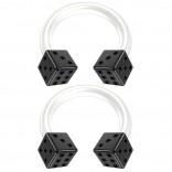 2pc 14g Black Dice Flexible Bioflex Circular Barbell Horseshoe Septum Ring Bioplast Piercing 8mm