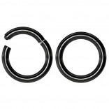 2pc 16g Hinged Clicker Captive Bead Ring Black 6mm Helix Earring Nose Hoop Rook Cartilage Tragus Lip Septum Forward Eyebrow Ear Lobe Nostril Rings Seamless Surgical Steel