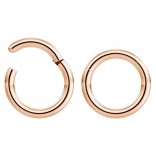 2pc 14g Hinged Clicker Captive Bead Ring Rose Gold 8mm Helix Earring Nose Hoop Rook Cartilage Tragus Lip Septum Forward Eyebrow Ear Lobe Nostril Rings Seamless Surgical Steel