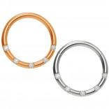2pc 18g CZ Steel Rose Gold Stainless Steel Clicker Septum Rings Clicker Seamless Segment Septum Nose