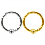2pc 16g Stainless Steel Captive Bead Ring Earrings Ball Gauge Hoop Tragus Daith Septum Helix BCR