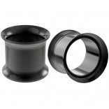 2pc 1/2 Black Tunnels Gauges Plugs Earrings Flesh Expander For Women Men 12mm Double Flared Piercing