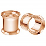 2pc 10mm 00g Double Flare Ear Gauge Flesh Tunnels Plug Rose Gold Stretcher Expander Piercing Jewelry