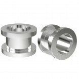 2pc 00g Tunnels Gauges For Men Women Screw Flesh Earrings 10mm Ear Plugs Metal Double Flared Steel