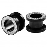 2pc 00g Gauge 316L Surgical Steel Flesh Tunnels Reflective Lobe Stretcher Plugs Ear Stretching Expander