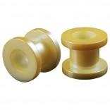 2pc 00g Gauge Acrylic Flesh Tunnels Cream Lobe Stretcher Plugs Ear Stretching Expander