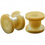2pc 0g Gauge Acrylic Flesh Tunnels Cream Lobe Stretcher Plugs Ear Stretching Expander