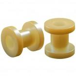 2pc 2g Gauge Acrylic Flesh Tunnels Cream Lobe Stretcher Plugs Ear Stretching Expander