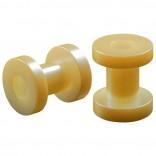 2pc 4g Gauge Acrylic Flesh Tunnels Cream Lobe Stretcher Plugs Ear Stretching Expander