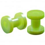 2pc 4g Gauge Acrylic Flesh Tunnels Green Hue Lobe Stretcher Plugs Ear Stretching Expander