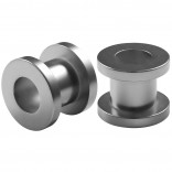 2pc 0g Gauge Acrylic Flesh Tunnels Metallic Grey Hue Lobe Stretcher Plugs Ear Stretching Expander