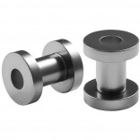 2pc 4g Gauge Acrylic Flesh Tunnels Metallic Grey Hue Lobe Stretcher Plugs Ear Stretching Expander