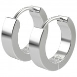 2pc 20g Surgical Stainless Steel Huggie Hoop Earrings For Men Women Huggy Clutch Flat Thick Jewelry