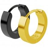 2pc 20g Black Gold Surgical Stainless Steel Huggie Hoop Earrings For Men Women Huggy Clutch Jewelry