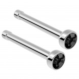 2pc Surgical Steel Guage Nose Stud Ring 18g 1mm Flesh Nostril Straight Pin Crystal Piercing Jewelry Jet