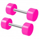 2pc 6 Guage Pink Cheater Plugs 6g Fake Stretched Ears 16g Illusion Earrings For Women 8mm Piercing Jewelry
