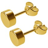 2pc 0g 8mm Fake Gauge Illusion Plug Ear Stud Earrings Studs Stretcher Look Gold 16g Actual Piercing
