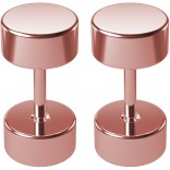 2pc 16g 2g Fake Gauges Earrings Illusion Plugs Cheater Stud Rose Gold Surgical Stainless Steel Lobe