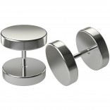 2pc Illusion 16g Cheater Plugs Fake Gauges Earrings Lobe 316L Surgical Stainless Steel For Women Men