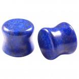 2pc Organic Lapis Lazuli Stone Double Flared Saddle Plug 1/2 Inch (12mm) Gauge Earring Tunnel Ear Lobe Stretcher Piercing Jewelry