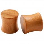 2pc Organic Teak Wood Double Flared Saddle 00g (10mm) Gauge Earring Tunnel Ear Lobe Stretcher Piercing Jewelry