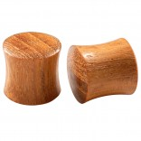 2pc Organic Teak Wood Double Flared Saddle 1/2 Inch (12mm) Gauge Earring Tunnel Ear Lobe Stretcher Piercing Jewelry