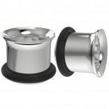 2pc 1/2 Tunnels Gauges Earrings For Men Women Plugs O-Rings 12mm Flesh Ear Expander Piercing Steel