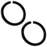 2pc 18g Black Stainless Steel Ring Seamless 8mm 5/16 Hoop Adjustable Endless Cartilage Earring Helix