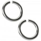 2pc 18g Surgical Stainless Steel Seamless Ring 6mm 1/4 Inifinity Hoop Endless Cartilage Earrings