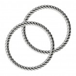 Twisted Wire Seamless Nose Ring 16g Adjustable Lip Hoop Fitted Earings Endless Infinity Septum 10mm