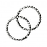 Twisted Wire Seamless Nose Ring 16g Adjustable Lip Hoop Fitted Earings Endless Infinity Septum 8mm