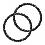 Twisted Wire Black Seamless Hoop Nose Ring 16g Lip Fitted Earings Endless Infinity Septum 10mm Rings