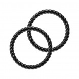 Twisted Wire Black Seamless Nose Ring 16g Lip Hoop Fitted Earings Endless Infinity Septum 8mm Rings