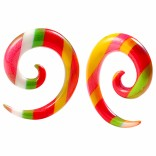 2pc 4g Rainbow Spiral Guages Ear Stretching Plugs For Ears Earrings Taper Spirals Curl Flesh Piercing Jewelry
