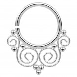16g Annealed Nose Ring 16 Gauge 5/16 8mm Septum Earrings Nose Ring Piercing Jewelry - Steel
